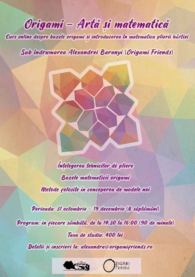 Origami – Artă și matematică (31 oct – 19 dec)